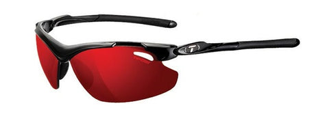 Tifosi Tyrant 2.0 Sunglasses - Gloss Black Frame - Polarized Clarion Red Lense