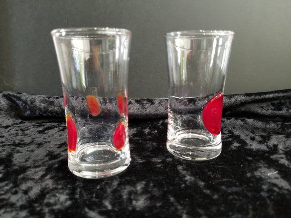 Red Dot Shot Glass Set