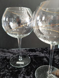 Balloon Swirl Wine Goblets