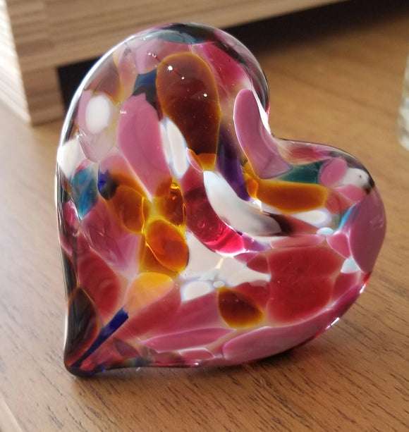 Multi Glass Heart Ring Holder