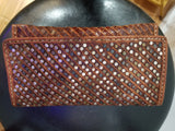 Leather Moroccan Rivet Clutch