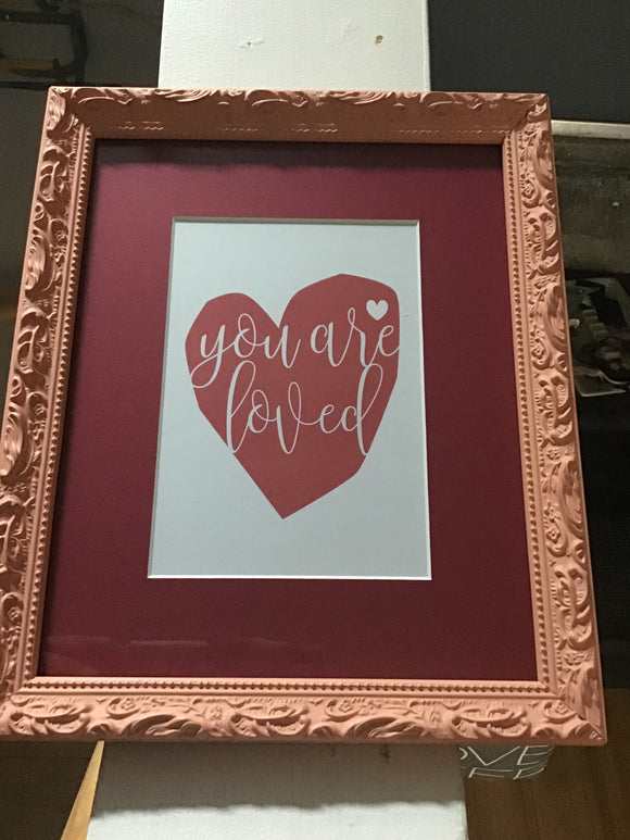 You Are Loved Framed Print