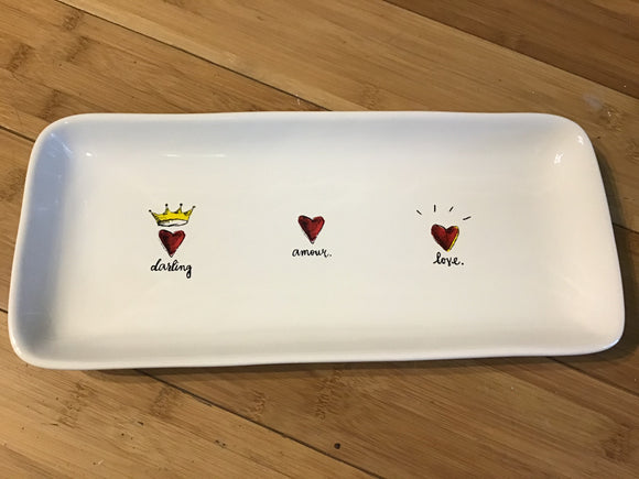 Darling, Amour, Love Tray Set