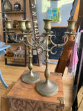 Antique Brass Candleabras