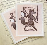 Set of Bookplate Stickers