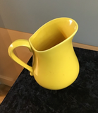 """Sunshine"" Yellow Pitcher (or Vase)"