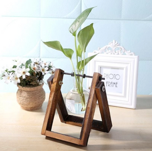 Wood Flask Planters
