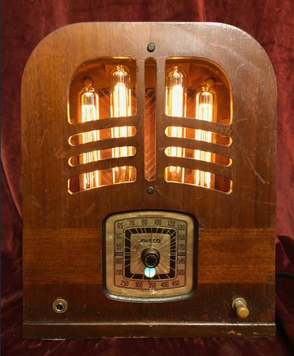Illuminated Philco Tombstone Radio with Bluetooth Audio