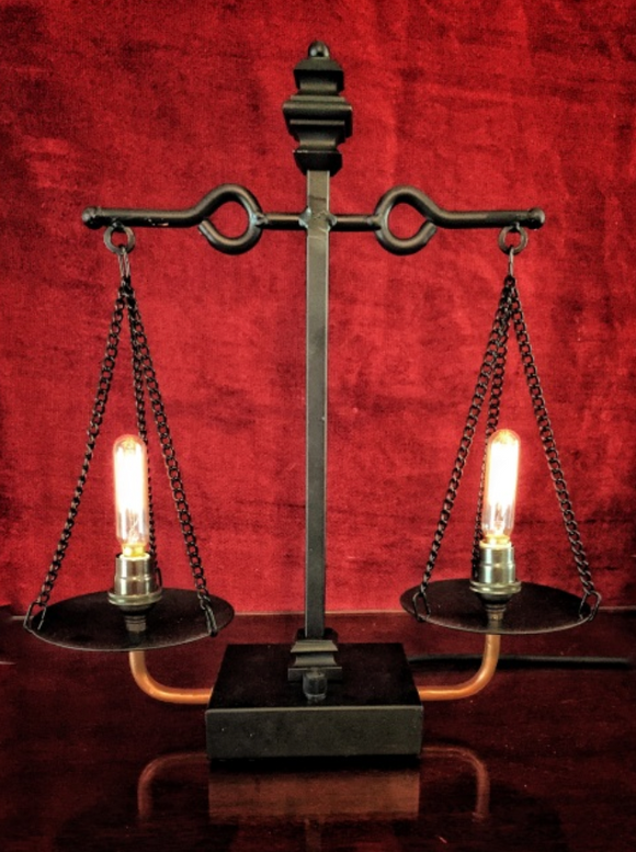 Illuminated Scales of Justice