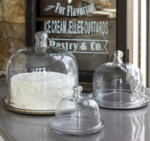 Glass Serving Domes (Set of 3)