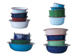Enameled Containers (Set of 15)