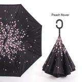 Reverse, Double Layer Folding Umbrella
