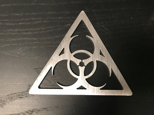 Aluminum Biohazard Sign