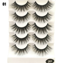 Load image into Gallery viewer, 5 Pairs/Set Beauty Thick Long Black Eyelashes