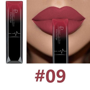 Hot Sales Waterproof Nude Matte Velvet Glossy Lip Gloss Lipstick Lip Balm Sexy Red Lip Tint 21 Colors Women Fashion Makeup Gift