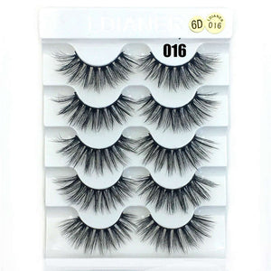 5 Pairs/Set Beauty Thick Long Black Eyelashes