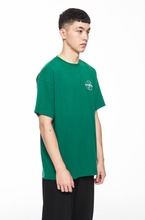 "Load image into Gallery viewer, ""GARMENTS"" GREEN LOGO T-SHIRT"