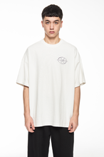 "Load image into Gallery viewer, ""GARMENTS"" WHITE LOGO T-SHIRT"
