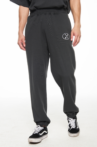 DARK GREY GARMENTS LOGO SWEAT PANTS