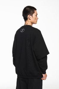 """GARMENTS"" BLACK SWEATSHIRT"