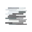 Twilight Interlocking Mixed Aluminum and Glass Mosaic Tile, Backsplash for Kitchen and Living Space - 10 Square Feet Per Carton - Gray