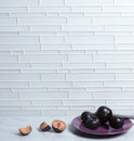 Interlocking Glass Mosaic Tile, Backsplash for Kitchen and Bathroom - 5 Square Feet Per Carton - Super White