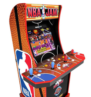 NBA Jam Online Multiplayer, Pac-Man 40th, and Frogger Arcade1Up Cabinets Are Live