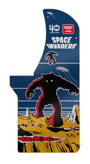 Space Invaders Set of Two Panels (Left and Right)