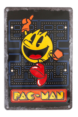 Set of Three PAC-MAN™ Tin Signs
