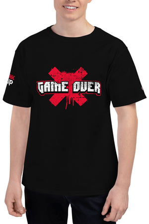 Distressed Game Over Men's Champion T-Shirt