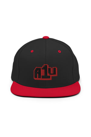 Embroidered Red Logo Snapback Hat