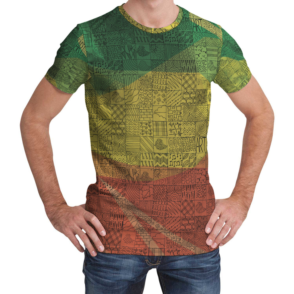 Ethiopian Colors Unisex All Over Print Tshirt
