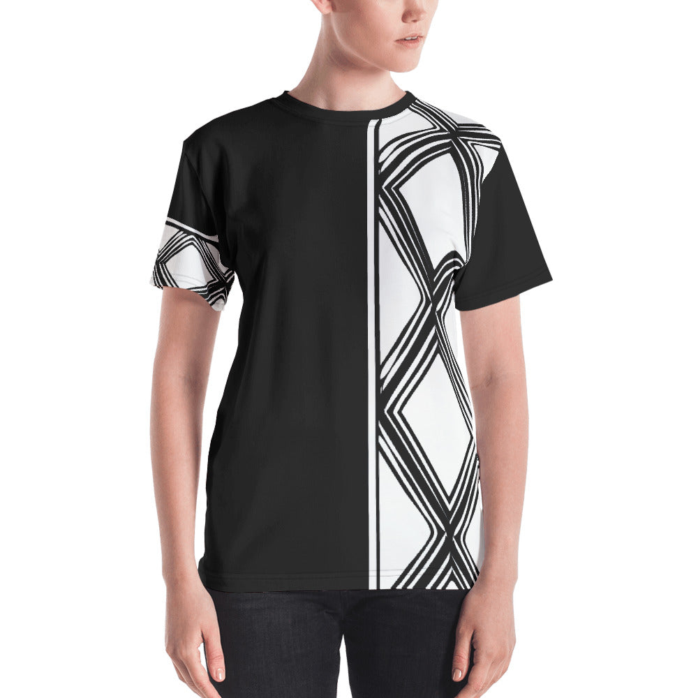 Black and White Tilet Women's T-shirt