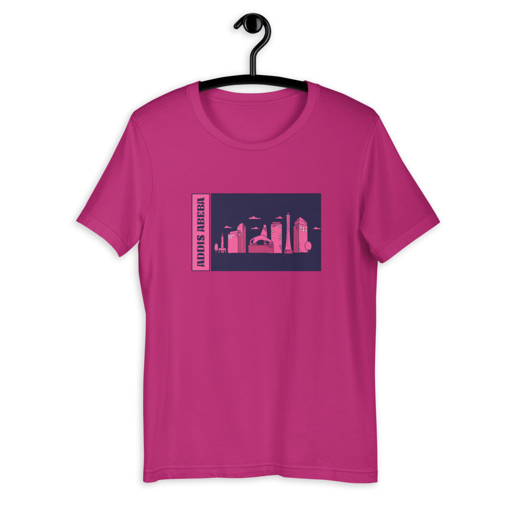 Addis Abeba Skyline Short-Sleeve Unisex T-Shirt