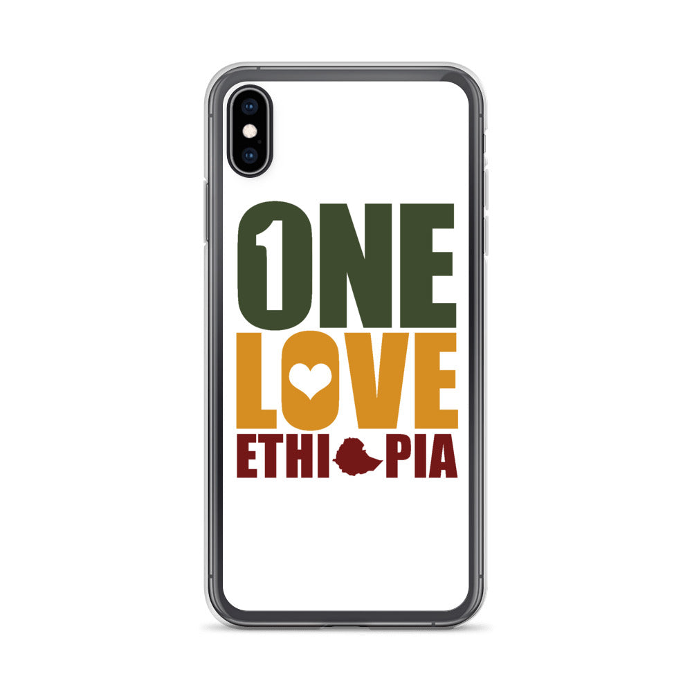 One Love Ethiopia iPhone Case