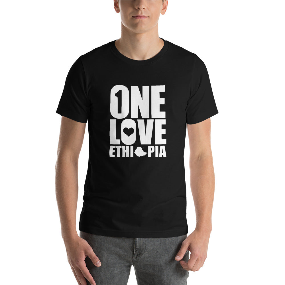 """ONE LOVE ETHIOPIA"" Short-Sleeve T-Shirt For Male and Female"