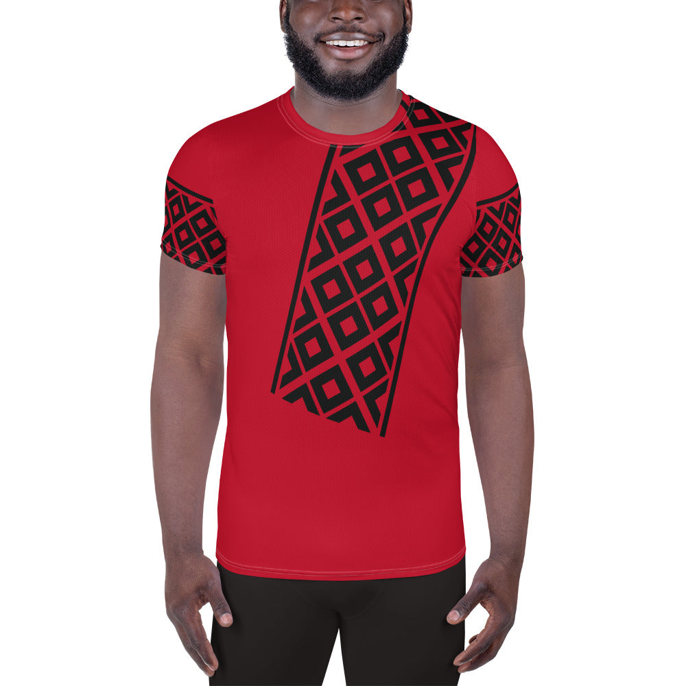 Ethio Patterns All-Over Print Men's Athletic T-shirt