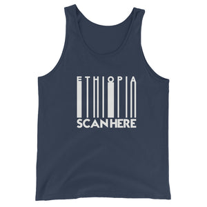 "Unisex  Tank Top (BAR CODE ""SCAN HERE"")"