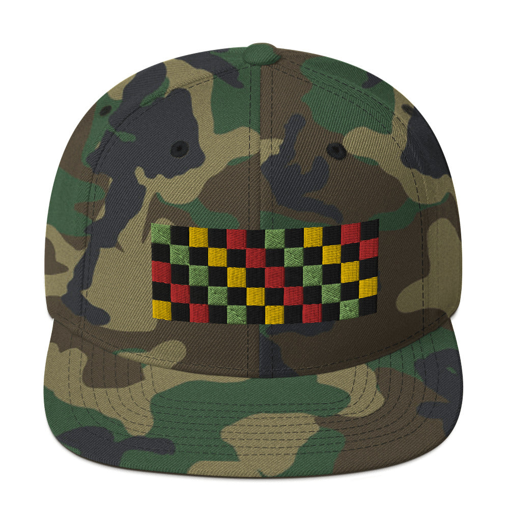 Checkered Snapback Hat