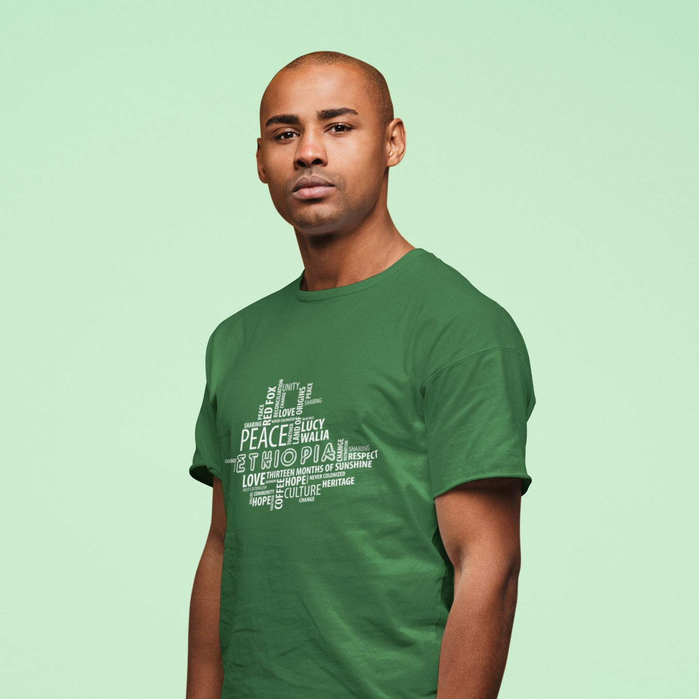 Ethio-Map Peace Tshirt for male and female
