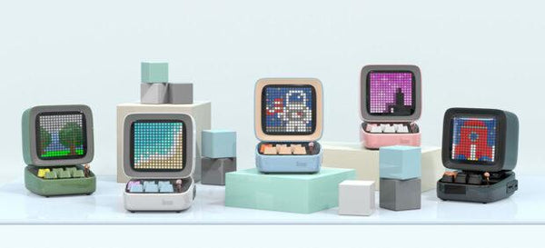 Divoom Ditoo bluetooth speaker displays pixel art on a tiny retro computer | Divoom International