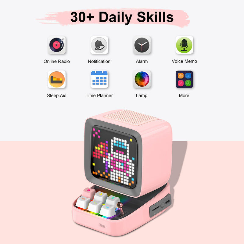 Divoom Ditoo Retro Pixel Art  LED Bluetooth Speaker with Smart Sleep Aid function