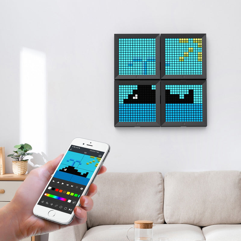 Divoom Pixoo Bluetooth Pixel Art Frame with 16*16 App-Programmed LED - Divoom International
