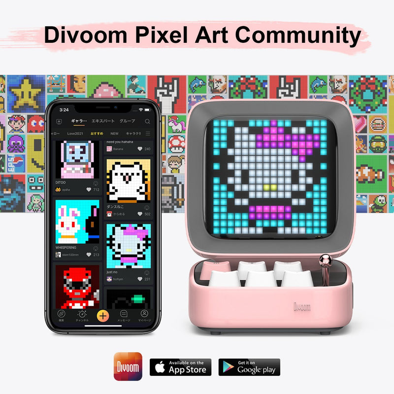 Divoom Ditoo Pixel Display Bluetooth Speaker - Bluetooth speaker-all products-Divoom International