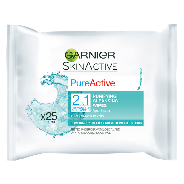 PureActive 2in1 Cleansing Wipes - Garnier