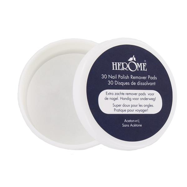 Caring Polish Remover Pads 30 stk. - Herôme