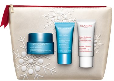 Hydra-Essentiel Day Cream Normal/Dry Skin Types Gaveæske - CLARINS