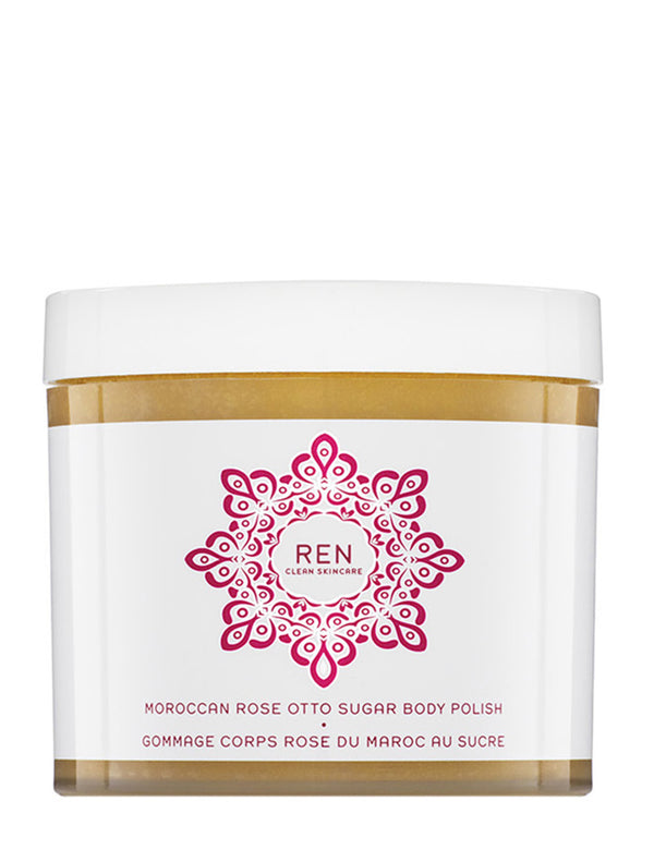 Moroccan Rose Otto Sugar Body Polish - REN CLEAN SKINCARE