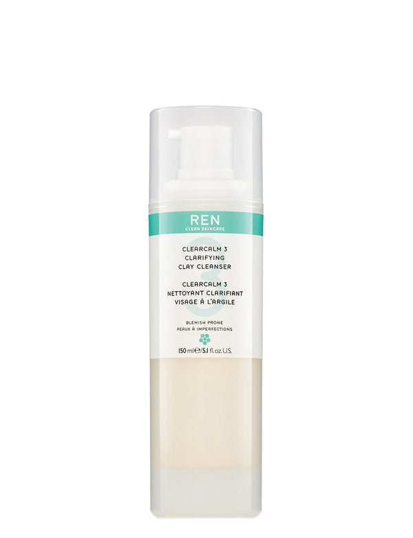 Clearcalm 3 Clearifying Clay Cleanser - REN CLEAN SKINCARE