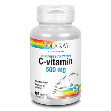 C-vitamin 500 mg 180 kapsler - SOLARAY